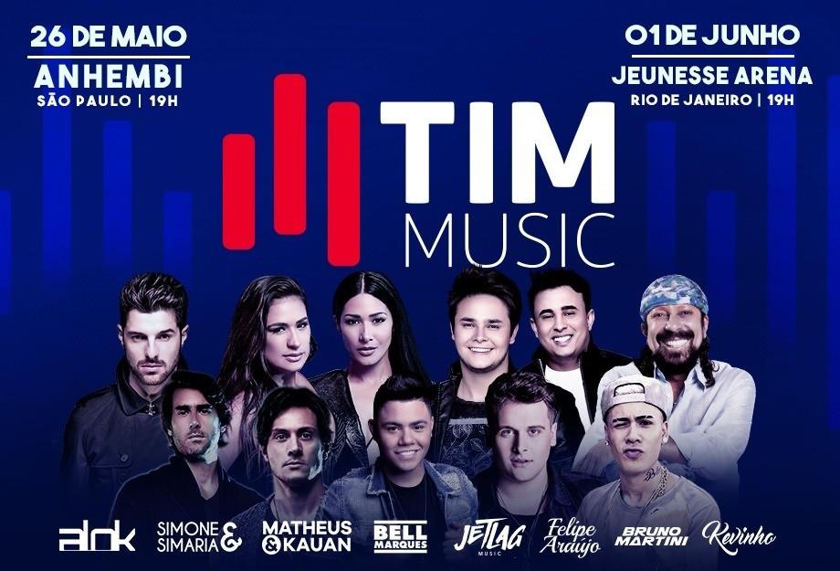 Festival TIM Music Divulgação